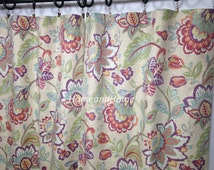 "25"" Pair of rod Pocket Curtains Drapery Panels Window treatment 25"" x 84"" Richloom Castillo Julip extra long curtain"