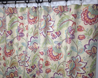 "25"" Pair of rod Pocket Curtains Drapery Panels Window treatment 25"" x 84"" Richloom Castillo Julip extra long curtain"