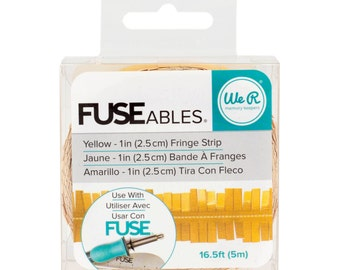 We R Memory Keepers 660862 FUSEables Yellow Fringe Tape