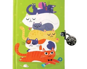 Cats Lock and Key Diary