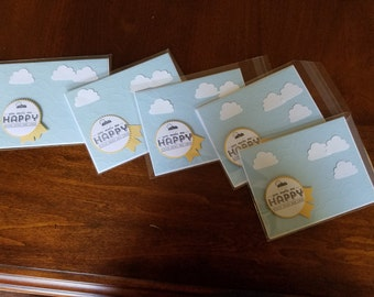 Stampin Up/Greeting Cards/You Make Me Happy when skies are gray!