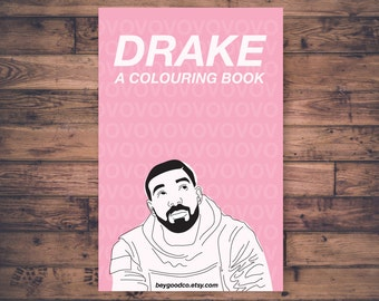 Printable Drake Coloring Book - Great Christmas Gift - 10 Colouring Pages - Instant Download