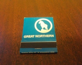 Vintage Great Northern  Railroad Match Book