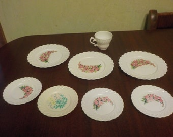 Vintage Pretend Doll Flower  TableWare