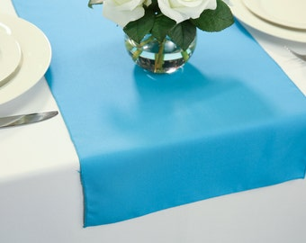 Turquoise Polyester Table Runner | Wedding Table Runners