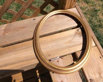 On Sale!  Vintage Shabby Chic Oval Gold Frame, Wedding Decor, Baby Nursery Decor