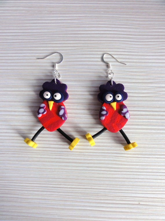 earrings v ronique et davina polymer clay by klickart on etsy. Black Bedroom Furniture Sets. Home Design Ideas