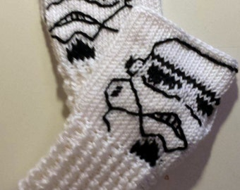 Fingerless Gloves Wrist Warmers Star Wars Stormtrooper Adult Sizes