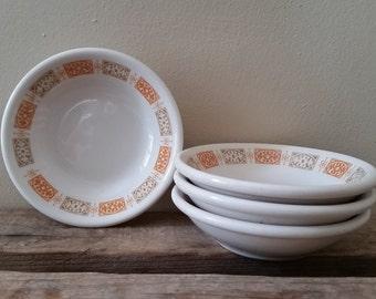 Mid Century Modern Shenango China Berry Bowls Set of 4 Vintage Shenango Restaurant Ware Multi Use Small Bowls