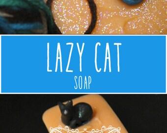 Lazy Cat Soap by Sorcery Soap