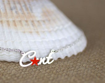 Mature - Cnnt necklace, Curse word, Statement Necklace, rebel jewelry