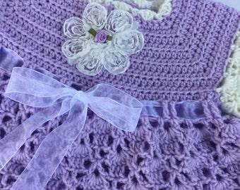 Baby girl dress, purple dress