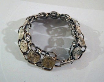 Vintage French Mid-Century Chain Link Bracelet from Paris Flea Market