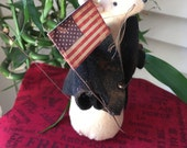 Patriotic Garden Mouse - Folkart/Handmade