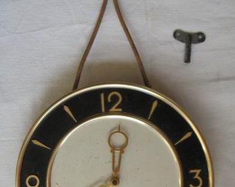 Vintage Soviet mechanical wall clock. USSR. 1960-1970