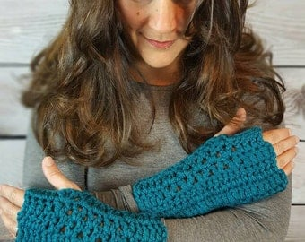 36 Colors of Fingerless Gloves -  Handmade  Wristwarmers - Texting Gloves - Crochet Gloves - Handwarmers - Available in 36 colors!