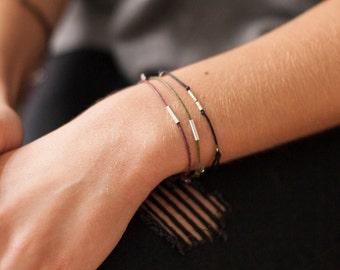 Minimalistic Silver Friendship Bracelet, Sterling Silver Tube Bracelet, Simple Silver Bracelet, Friendship Tube Bracelet, Minimal Bracelet