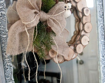 Wood Slice Rustic Wreath