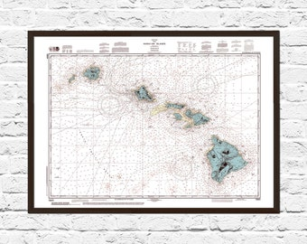Hawaii Art, Hawaiian Decor,  Hawaii Print, Art, Hawaii Art, Map Art, Hawaii, Poster, Hawaii Poster