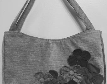 Custom Handmade Flower Garden Handbag, Medium