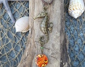 Seahorse Rearview Mirror Accessory - Car Accessory - Coastal Gifts - Coastal Accessory - Coastal Accents - Beach Gifts - Unique Gifts