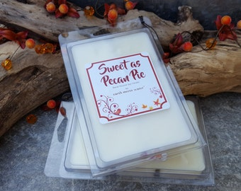 CLEARANCE - 50% Off - Sweet as Pecan Pie - 6 Pack Jumbo Soy Melts - Soy Wax Melts - Holiday Wax Melts -Baking Scents - Holiday Clearance