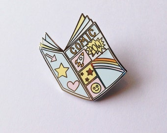 Comic book enamel pin - lapel pin - hat pin - pin badge