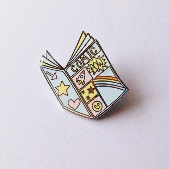 Comic book enamel pin - lapel pin - hat pin - pin badge