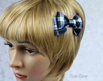Gordon Tartan Hair Bow, Gordon Plaid Hair Bow, Plaid Bow, Tartan Bow