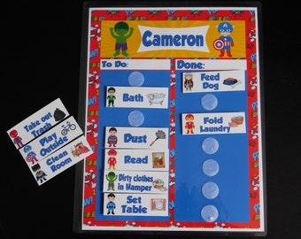 Chore Chart for Kids/Velcro Chore Board/Customized for you!