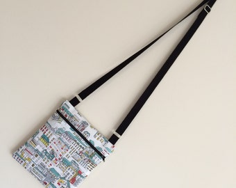 Quirky Houses Cross Body Bag