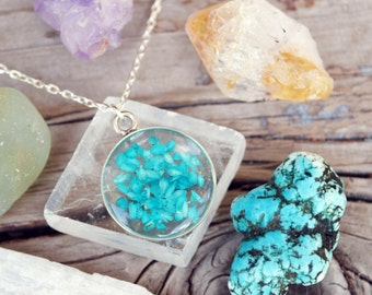 Turquoise Necklace Turquoise Jewelry Eco Friendly Jewelry