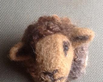 Needle felted Sheep Brooch