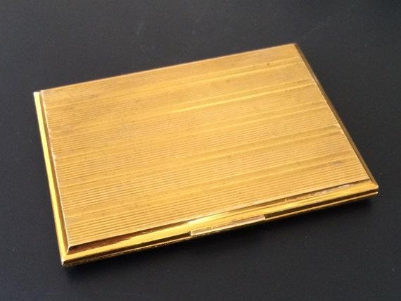 Vintage evans cigarette case business card case gold tone for Vintage business card case