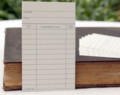 10 x Vintage Library Cards Checkout Catalog Gift Card for the Bookworm Student Party Invitation Tag