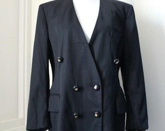 Escada by Margaretha Ley Jacket / Blazer Black Size 42 L Exclusive  Star