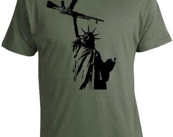 Statue of Liberty with Gun T-Shirt