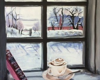 A Winter Morning- original painting in Acrylic