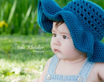 Floppy Brim Summer Hat - Made to order - Sizes 3 month to Adult - Crochet
