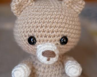 PATTERN: Crochet bear pattern - amigurumi bear - woodland animal - teddy bear - stuffed toy animal tutorial - PDF crochet pattern