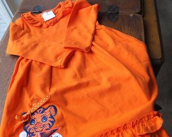 Orange Toddler Gameday Dress