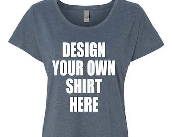 Custom Shirts- Dolman Sleeve Off the Shoulder Shirt. Design Your Own Shirt. Personalized Shirts. Disney Shirts. Bachelorette Party Shirts.