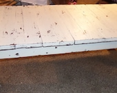 Rustic Coffee Table With Distressed White Enamel Finish