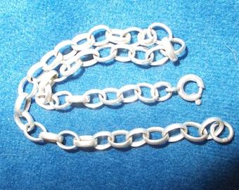 Solid sterling silver British belcher chain bracelet