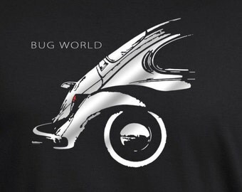 Bug classic beetle Tshirt Kafer airdooled muscle black unique artwork t shirt S - 5XL