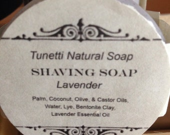 All Natural Shaving Soap - Lavender