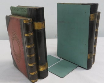 Italian Faux Book Bookends by Borghese