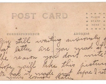 Price reduced! Real Photo Postcard, Antique Postcard, Funny Postcard