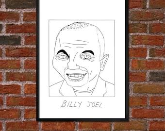Badly Drawn Billy Joel Poster
