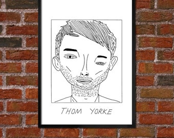 Badly Drawn Thom Yorke - Poster / print / artwork - FREE Worldwide Shipping